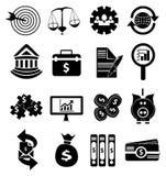 Money finance icons set Royalty Free Stock Image