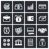 Money finance icons set Stock Photography