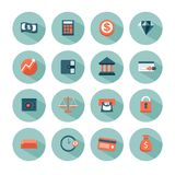 Money and finance icons. A set of icons related to money and finance Stock Image