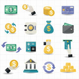 Money and Finance Icons Royalty Free Stock Photos