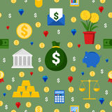 Money and Finance Seamless Pattern Background. Money and Finance Seamless Pattern Vector Background Royalty Free Stock Image