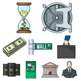 Money and finance set icons in cartoon style. Big collection of money and finance vector symbol stock illustration. Money and finance set icons in cartoon design Royalty Free Stock Photography