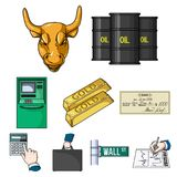 Money and finance set icons in cartoon style. Big collection of money and finance vector symbol stock illustration. Money and finance set icons in cartoon design Royalty Free Stock Photo
