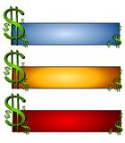 Money Finance Web Page Logos Royalty Free Stock Images