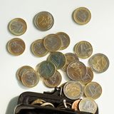 Money, finances. Euro coins Stock Photo