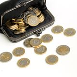 Money, finances. Euro coins Royalty Free Stock Photo
