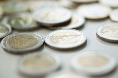 Money, finances. Euro coins Stock Images