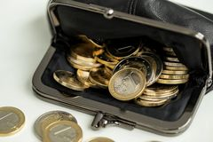 Money, finances. Euro coins Royalty Free Stock Photos