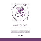 Money Financial Growth Success Business Web Banner With Copy Space. Vector Illustration Stock Photos