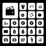 Money and financial icon set Royalty Free Stock Image