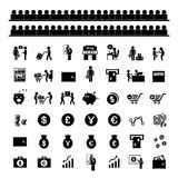 Money and financial icon set. Money and financial vector icon set Royalty Free Stock Photo