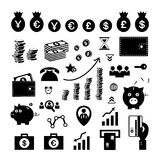 Money and financial icon set Stock Photography