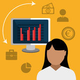 Money and financial market. Graphic design,  illustration Stock Photography