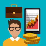 Money and financial market. Graphic design,  illustration Stock Image