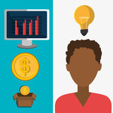 Money and financial market. Graphic design,  illustration Stock Images