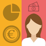 Money and financial market Royalty Free Stock Photography