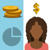 Money and financial market. Graphic design,  illustration Royalty Free Stock Images