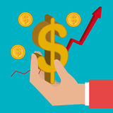 Money and financial market. Graphic design,  illustration Royalty Free Stock Image