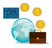 Money and financial market. Graphic design,  illustration Royalty Free Stock Photo