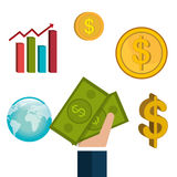 Money and financial market Royalty Free Stock Image