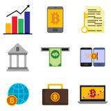 Money Financial Related Vector Illustration Graphic Icon Set. Design Stock Photos