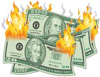Money on Fire Royalty Free Stock Image