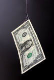 Money fishing. Decoy concept. One dollar banknote on a fish-hook. Decoy concept Stock Photo