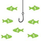 Money_fishing Stock Image