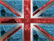 Money Flag. Union Jack made from money - pound coins Stock Photo