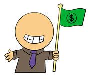 Money flag Stock Images