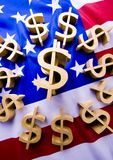 Money on the flag Royalty Free Stock Photography