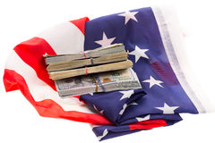Money and flag Stock Photography