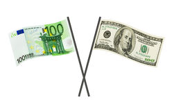 Money flags Royalty Free Stock Photography