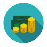Money Flat Design Concept Vector  Illustration Stock Image