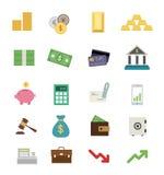 Money flat design icon set Stock Images