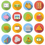 Money Flat icon set Stock Photo