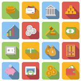 Money flat icons set Royalty Free Stock Photo