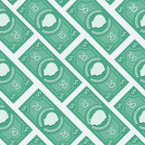 Money flat pattern Royalty Free Stock Photo