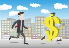 Money flees investors Stock Photography