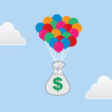 Money Floating Balloons Royalty Free Stock Images