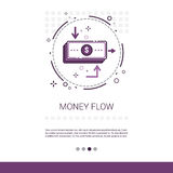 Money Flow Business Investment Banner With Copy Space. Vector Illustration Stock Image