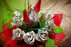 Money flowers Stock Images