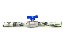 Money flowing. Isolated on white Stock Photography