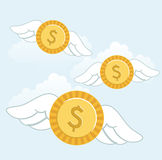 Money fly Royalty Free Stock Image