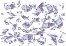 Money flying. Royalty Free Stock Photo