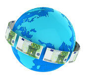 Money Flying Around the World Royalty Free Stock Photos