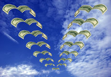 Money flying away Royalty Free Stock Image