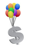 Money flying away illustration design Stock Photography