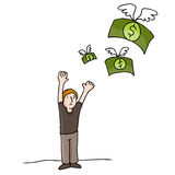 Money Flying Away Stock Photography