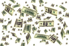 Money flying background Royalty Free Stock Images